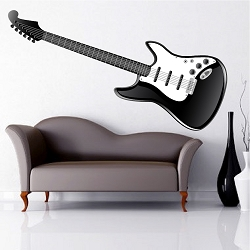 Electric Guitar Wall Mural Decal