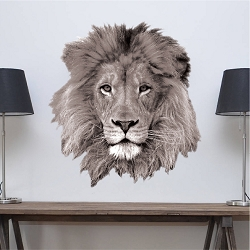 Lion Head Wall Decal