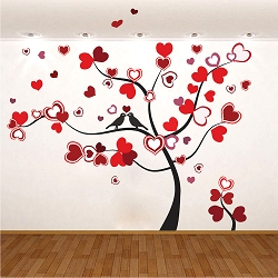 Heart Tree Wall Mural Decal