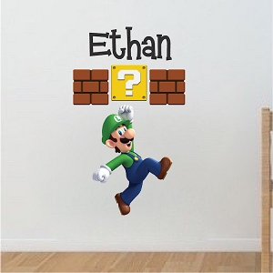 Luigi Personalized Name Decal
