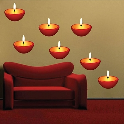 Candle Wall Mural Decal
