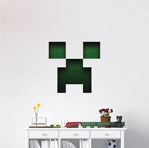 Minecraft Creeper Face Wall Graphic