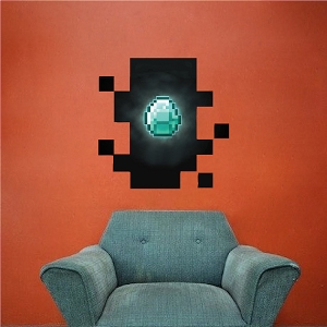 Minecraft Diamond in Wall Decal