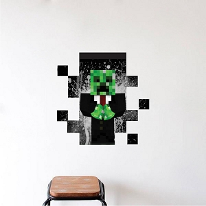 Minecraft Creeper Suit in Wall Decal