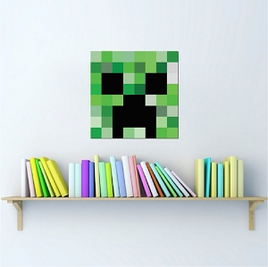 Minecraft Creeper Head Wall Graphic