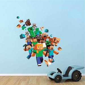 Minecraft Character 3D Wall Decal Mural