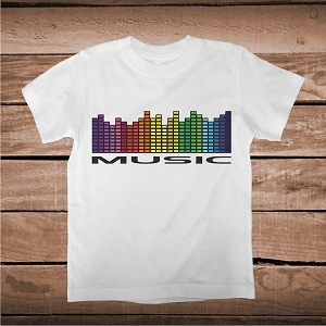 Music Equalizer Tees and Onesies