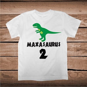 Custom Nameasaurus Dino Tee Tees T-shirt