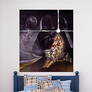 Classic Star Wars Movie Poster Wall Decal Vinyl Mural