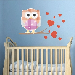 Kids Owl Wall Mural Decal
