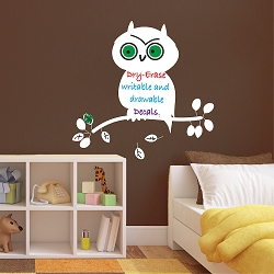 Dry Erase Owl Wall Decal