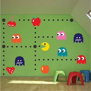 Pac Man Wall Mural Decal