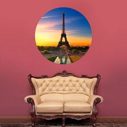 Eiffel Tower Wall Mural Decal