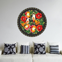 Floral Pattern Wall Mural Decal
