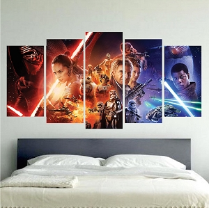 Star Wars The Force Awakens Panel Wall Decal