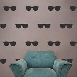 Sunglasses Wall Mural Decal