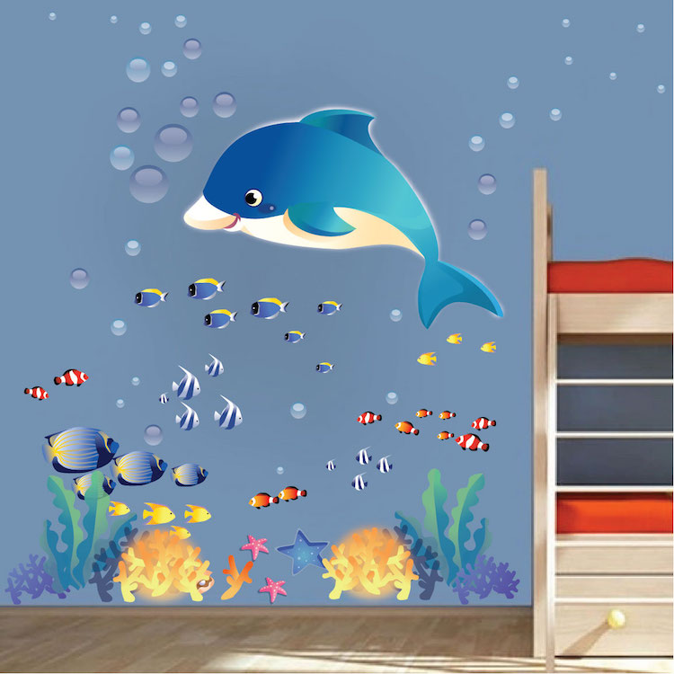 Captivating Under The Sea Wall Decals Part 19