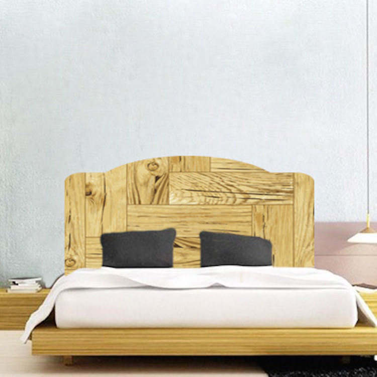 Wooden headboard mural decal headboard wall decal murals for Mural headboard