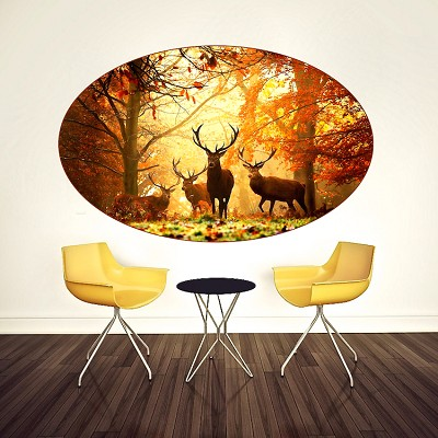 Deer head decal design wall murals prime decals for Deer wall mural