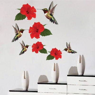 Hummingbirds Decal Mural Adhesives