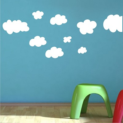 Clouds wall decals weather wall decal murals primedecals for Clouds wall mural