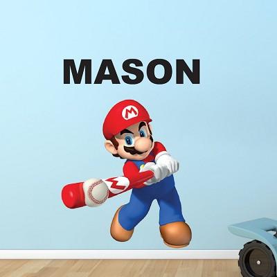 Mario Baseball Bedroom Wall Decal