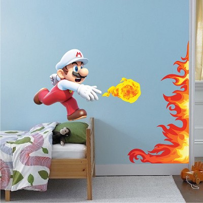 Mario Fire Ball Wall Graphic Decal