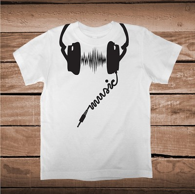Headphone Shirt Graphic Designs Cool Music Headphone