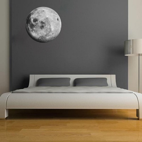 moon wall mural decal space wall decal murals primedecals. Black Bedroom Furniture Sets. Home Design Ideas