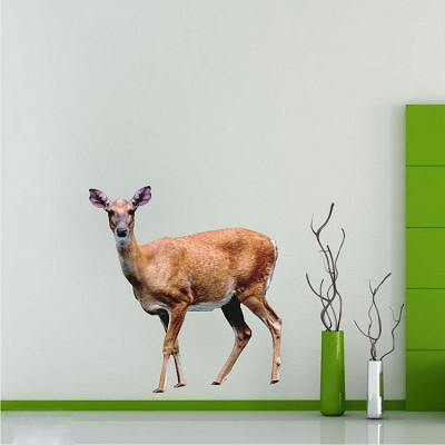 Deer wall mural decal wall adhesives primedecals for Deer wallpaper mural