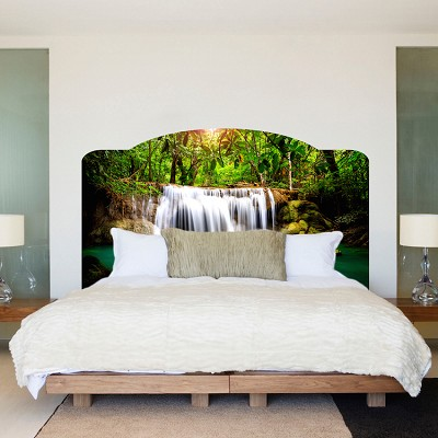 Bed headboard decal headboard self adhesive primedecals for Mural headboard