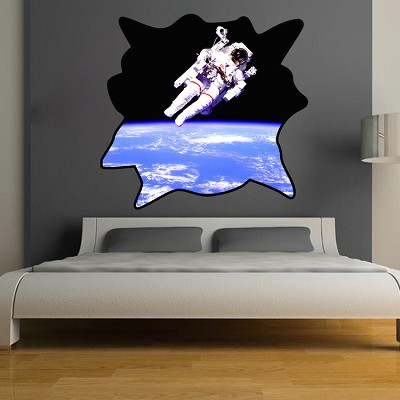 Astronaut wall decal mural wall stickers primedecals for Astronaut wall mural
