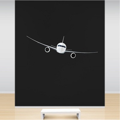 Airplane wall mural decal wall decals primedecals for Airplane wall mural