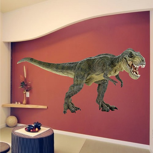 T rex decal animals wall decal murals primedecals for Dinosaur wall mural