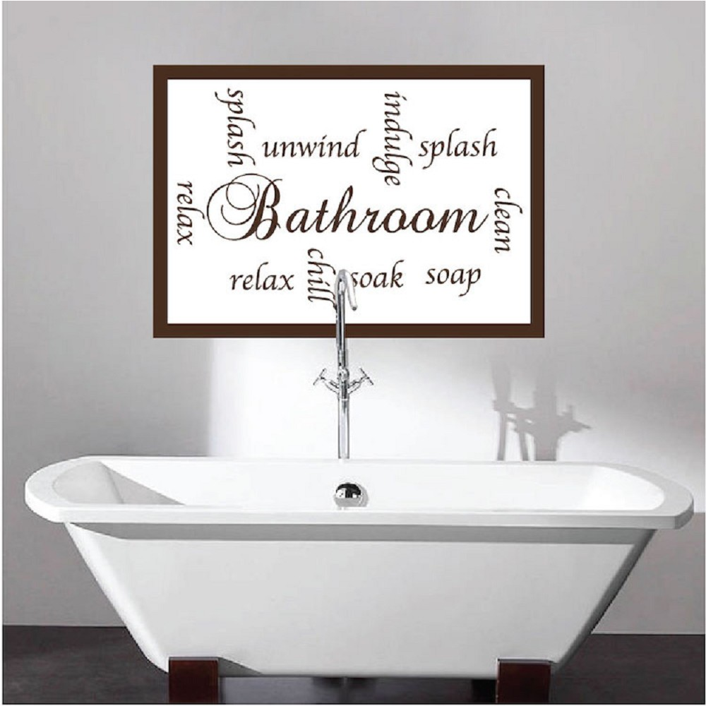Bathroom Sayings Decal - Bathroom Wall Decal Murals ...