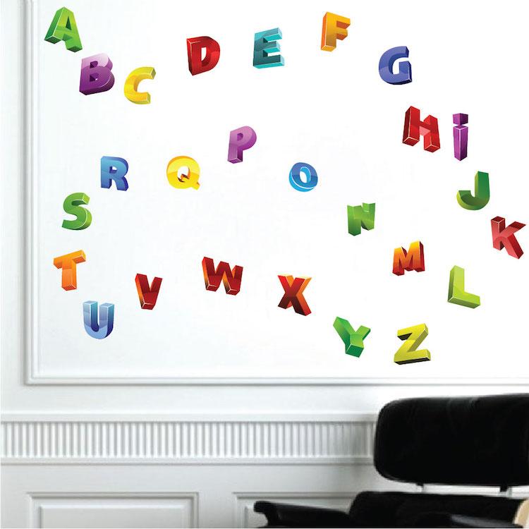 Alphabet Wall Mural Decals
