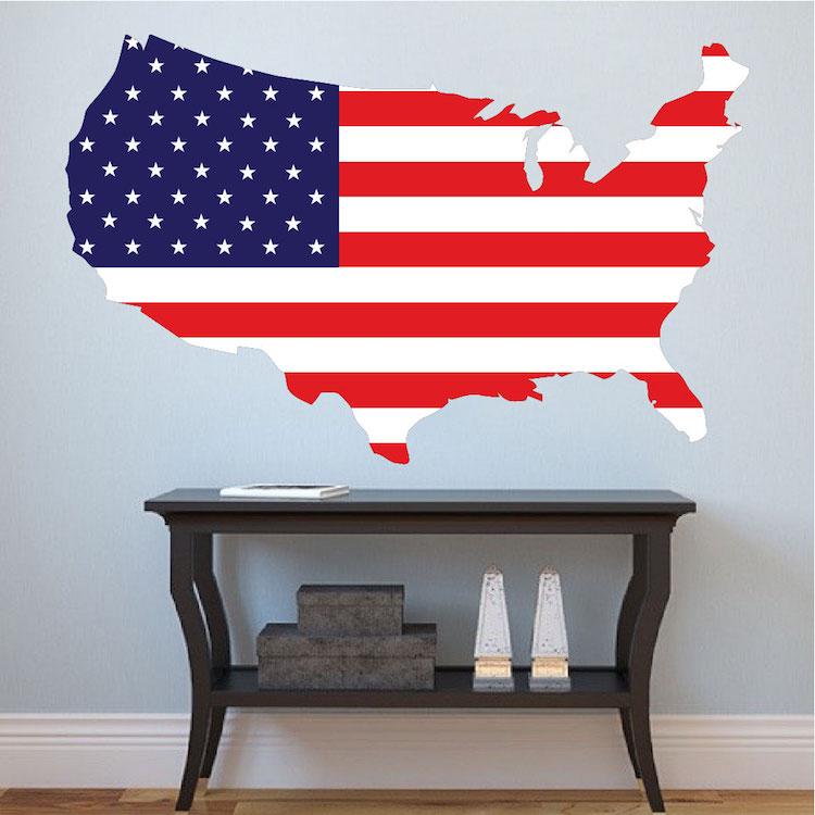 American Flag Wall Mural Decal