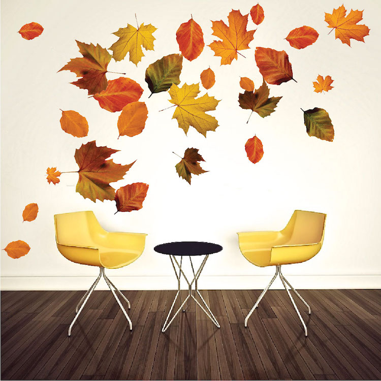 Autumn Leaves Wall Mural Decal Seasonal Wall Decal
