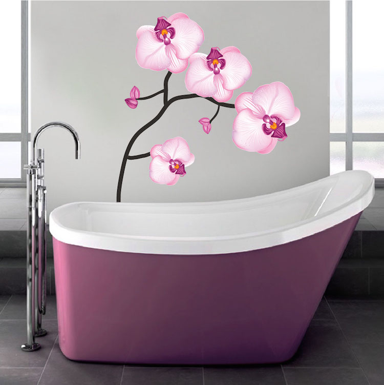 Pink flower wall decal peel and stick branch decals primedecals pink flower wall decal mightylinksfo