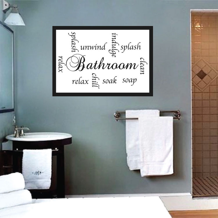 Bathroom Sayings Wall Mural Decal