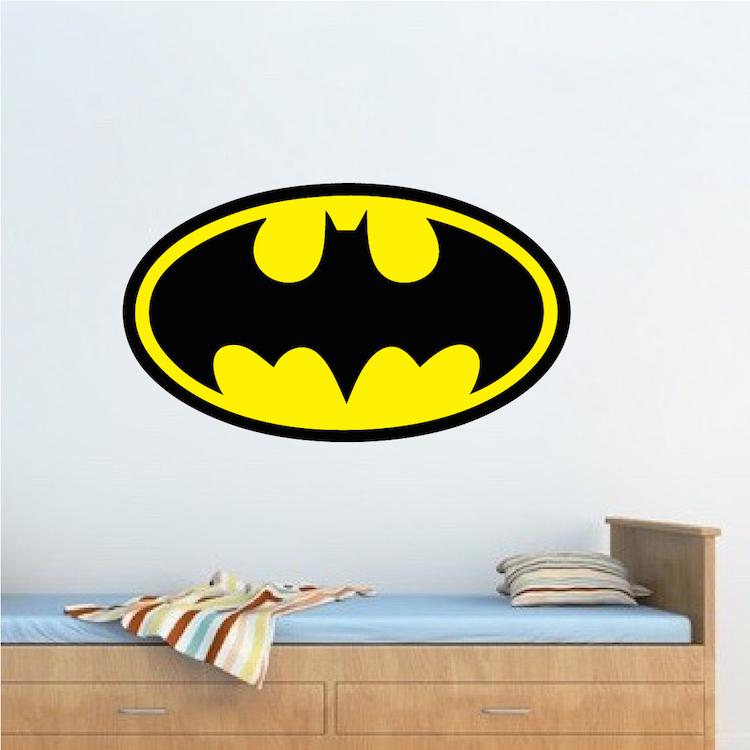 Batman Logo Wall Decal Batman Wall Decal Hero Boys Bedroom