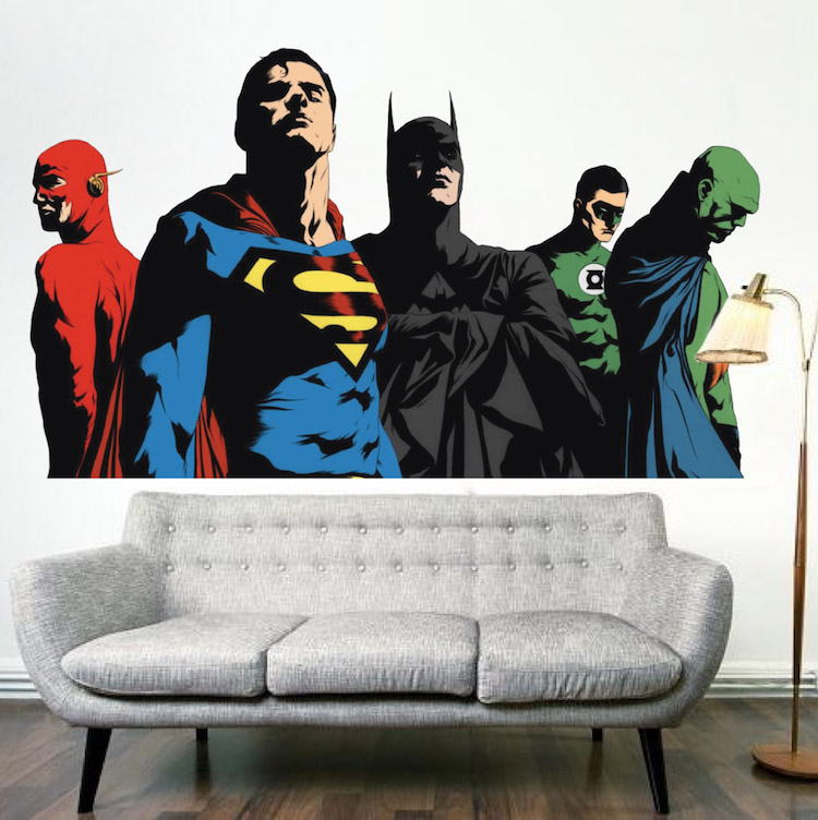 Superheroes Justice League Bedroom Wall Decals Kids Comic Decor Primedecals