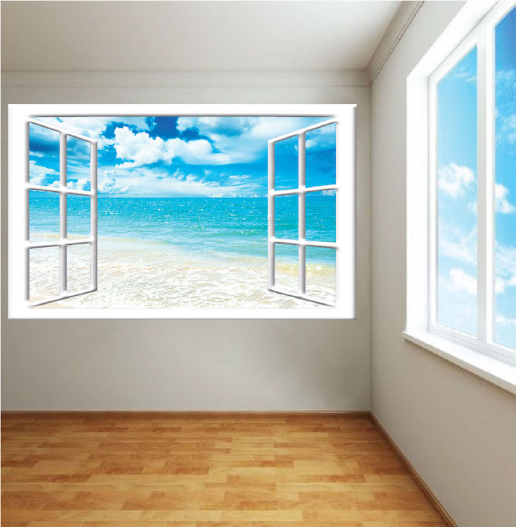Ocean View Mural Decal - View Wall Decal Murals - Primedecals