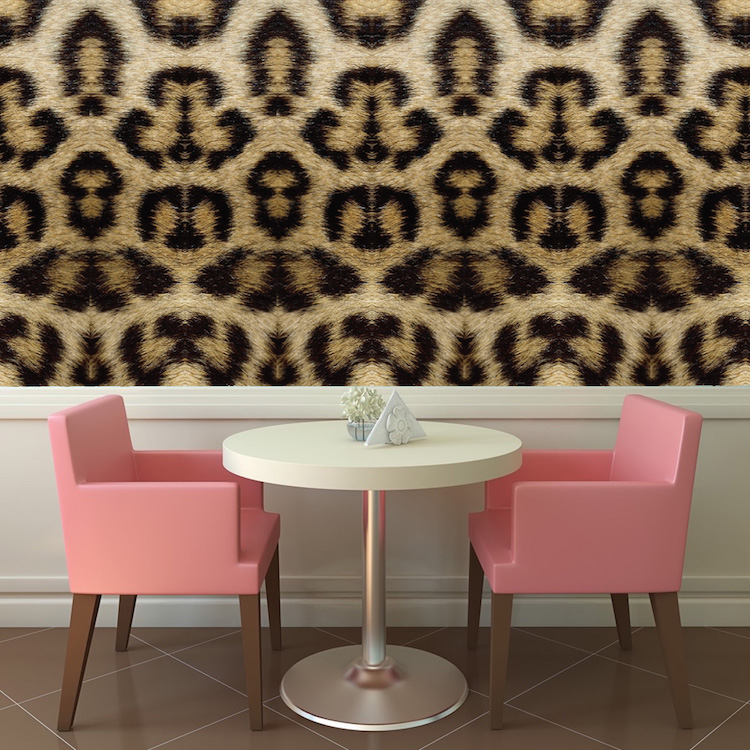 Leopard Removable Wallpaper Self Adhesive Decals Leopard Print Wall Decal Mural Large Print Wall Designs Primedecals