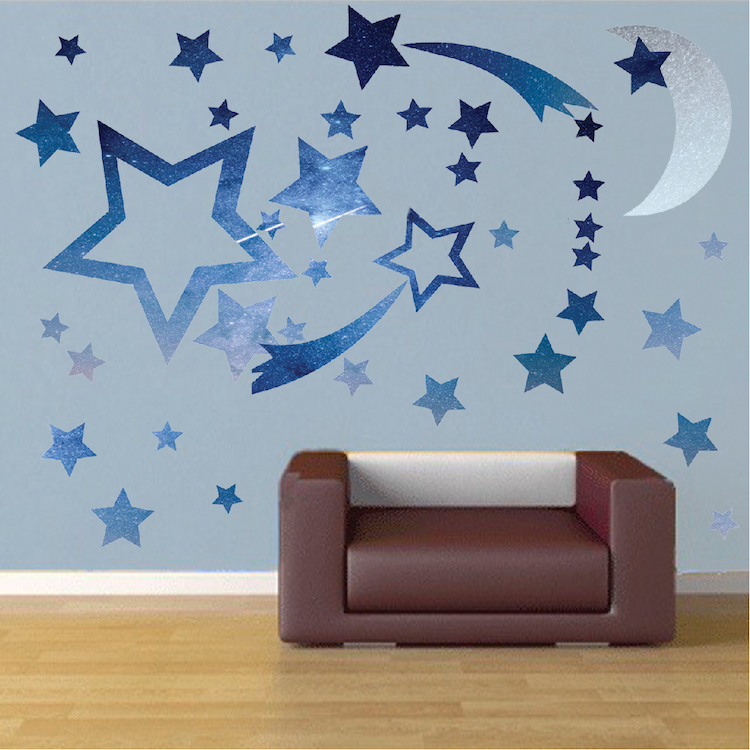 Bedroom Stars Decal - Space Wall Decal Murals - Primedecals