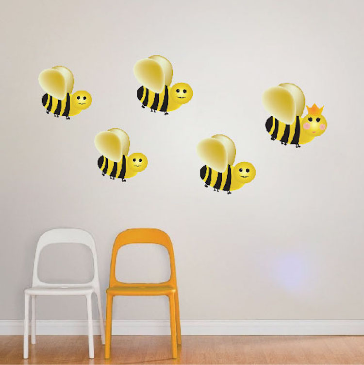 Ble Bee Wall Decal Etsy Stickers Small Home