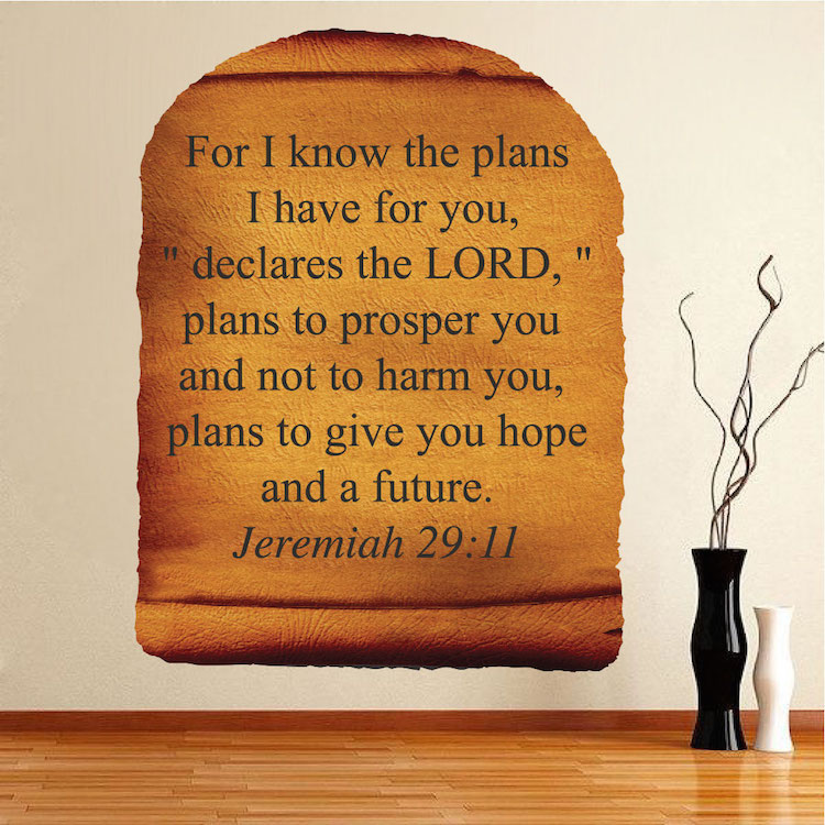 Scripture Scroll Wall Mural Decal