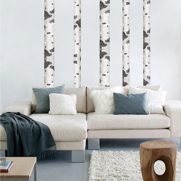 Birch Tree Wall Decal Birch Tree Trunk Wallpaper Decal Sticker