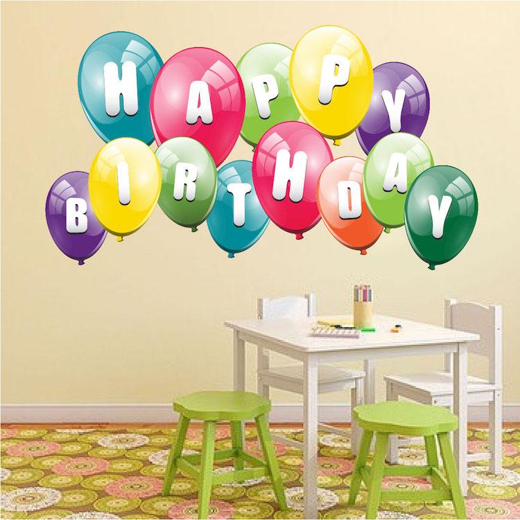 Balloon Birthday Wall Decal