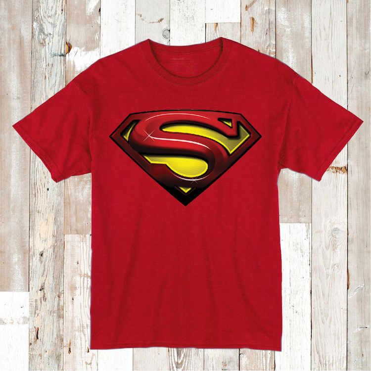 Famous Superman Logo Tees and Onesies _ Superhero T-Shirts _ Toddler and  OG14